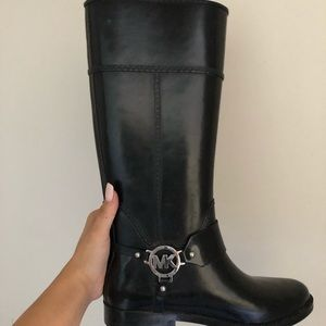 Michael Khor rain boots size 7.5, worn once!